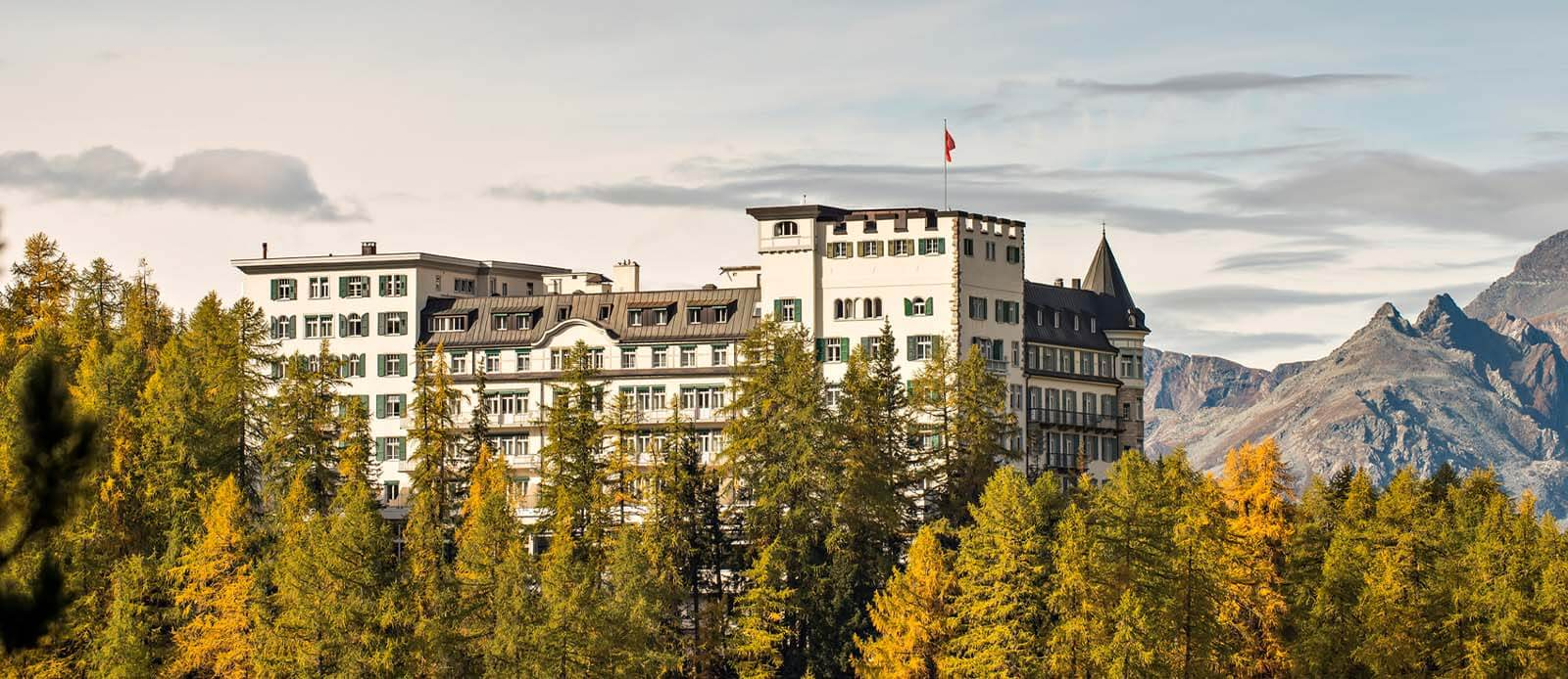 Discover the amazing architecture of the Hotel Waldhus Sils.