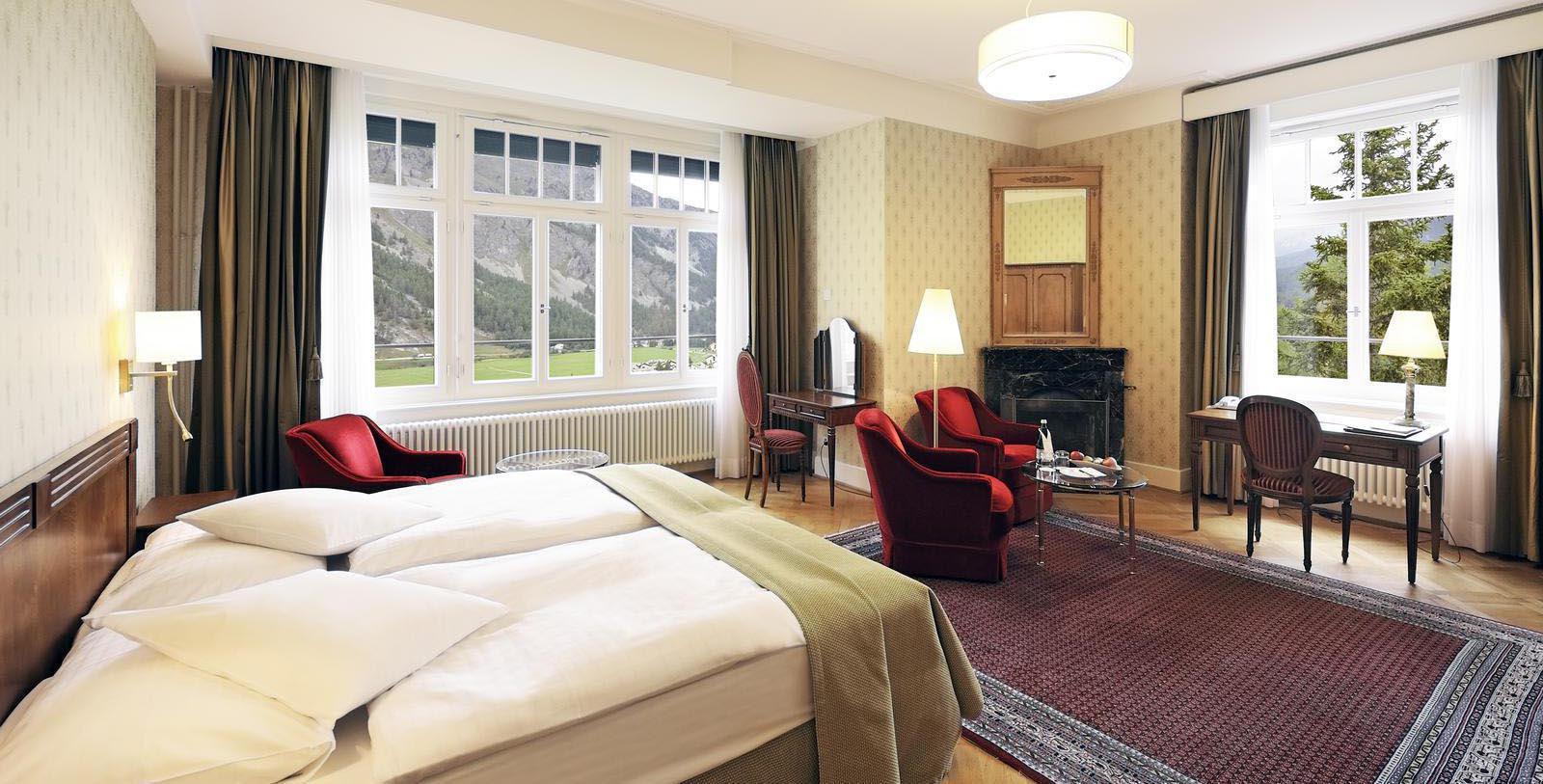 Image of Guestromm Interior Waldhaus Sils, 1908, Member of Historic Hotels Worldwide, in Sils Maria, Switzerland, Location