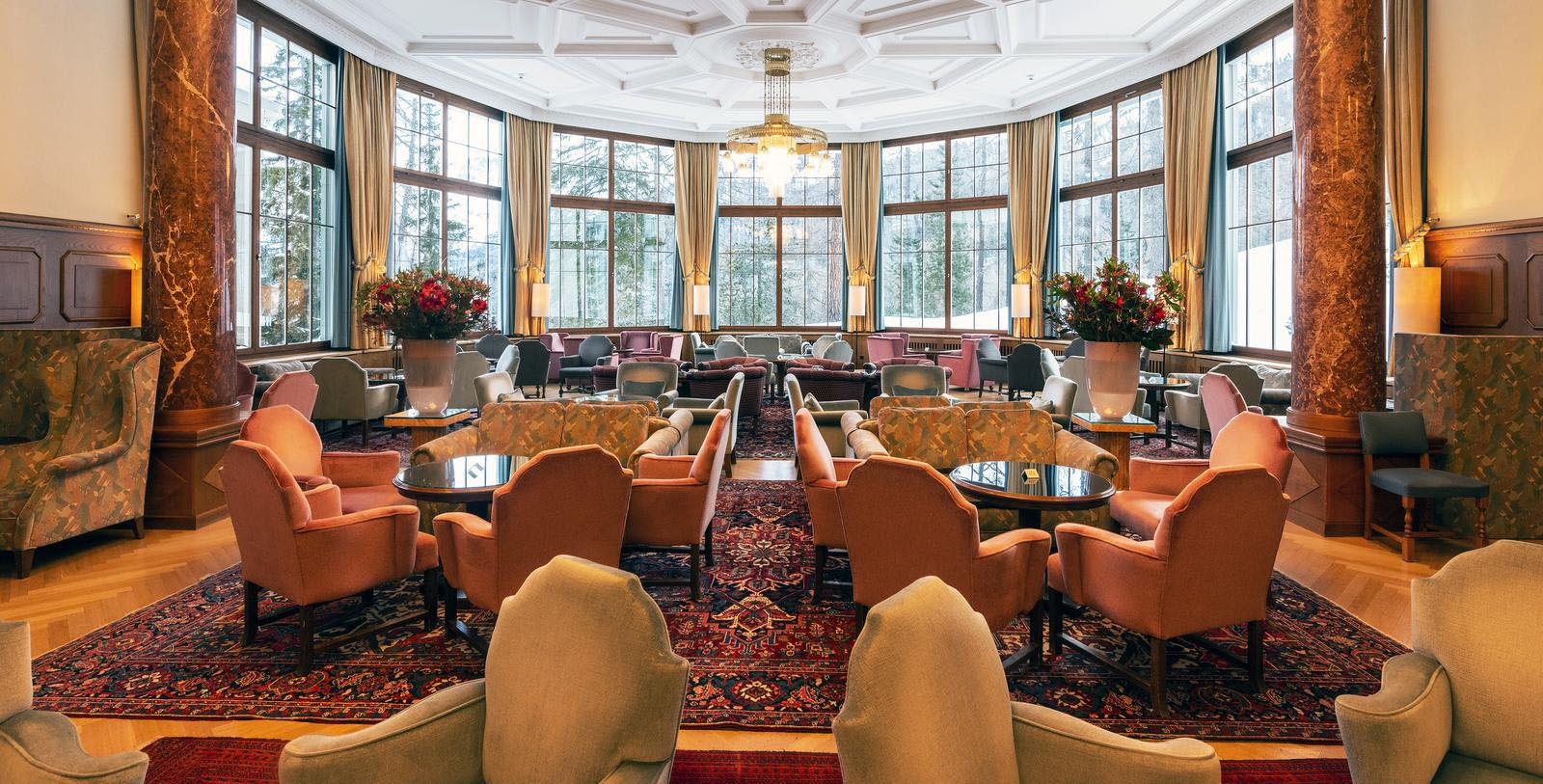 Image of Seating Area Hotel Waldhaus Sils, 1908, Member of Historic Hotels Worldwide, in Sils Maria, Switzerland, Taste