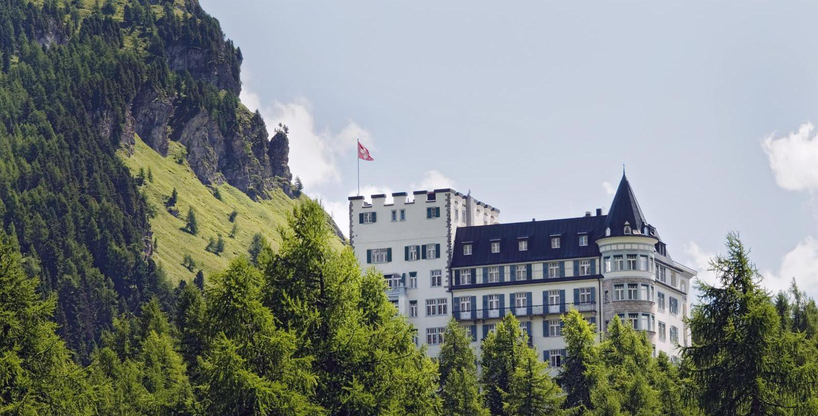 Image of Hotel Exterior Hotel Waldhaus Sils, 1908, Member of Historic Hotels Worldwide, in Sils Maria, Switzerland, Special Offers, Discounted Rates, Families, Romantic Escape, Honeymoons, Anniversaries, Reunions