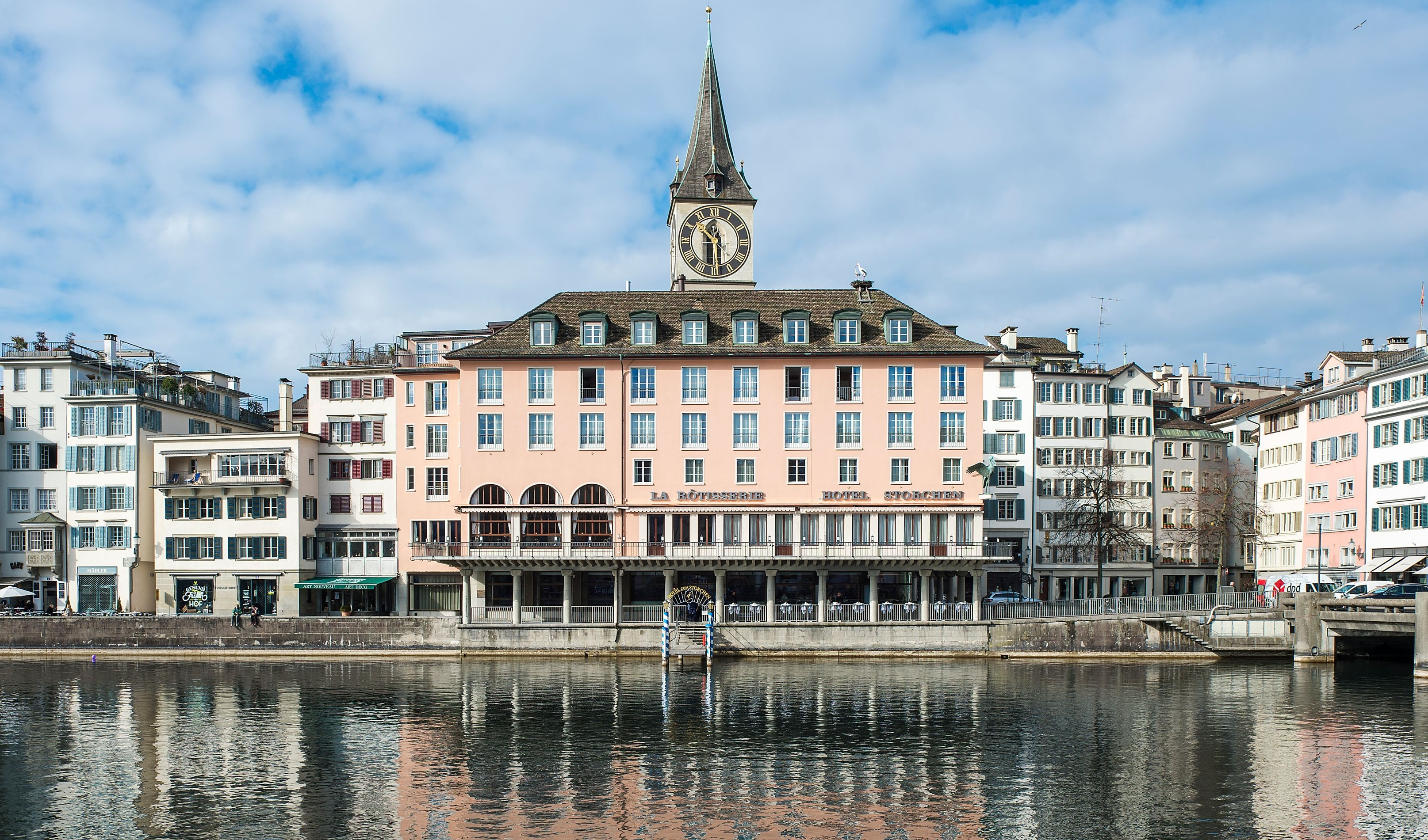 Discover the beautiful St. Peter Pfarrhaus right next to this stunning hotel.