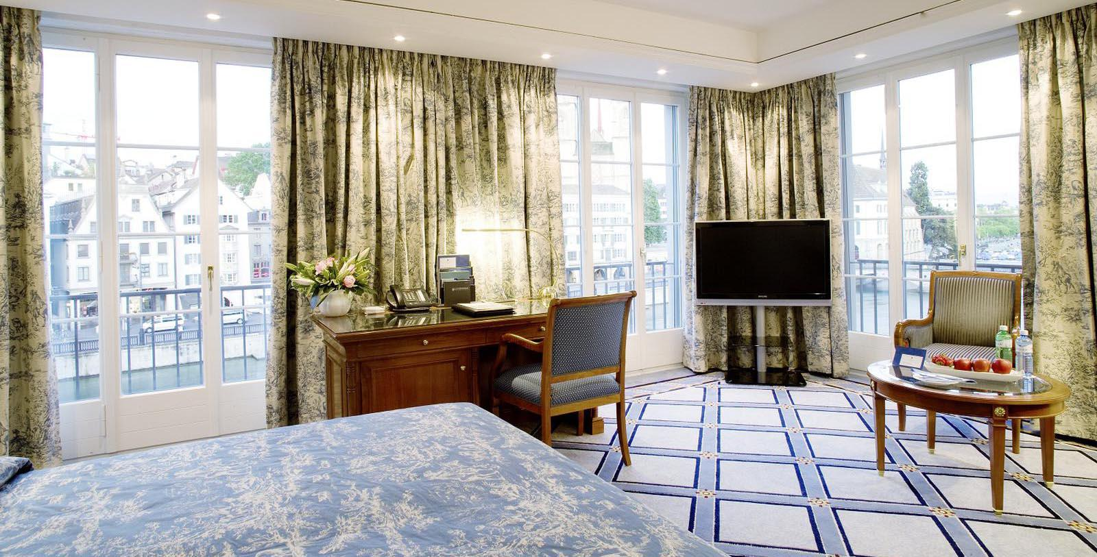 Image of Guestroom at Storchen Zürich, 1357, Member of Historic Hotels Worldwide, in Zurich, Switzerland, Accommodations