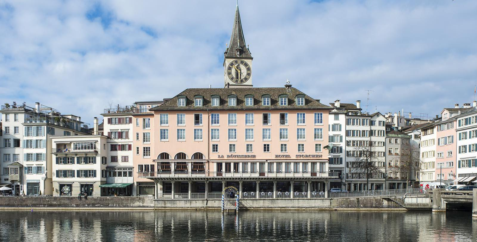 Image of Hotel Exterior Storchen Zürich, 1357, Member of Historic Hotels Worldwide, in Zurich, Switzerland, Special Offers, Discounted Rates, Families, Romantic Escape, Honeymoons, Anniversaries, Reunions