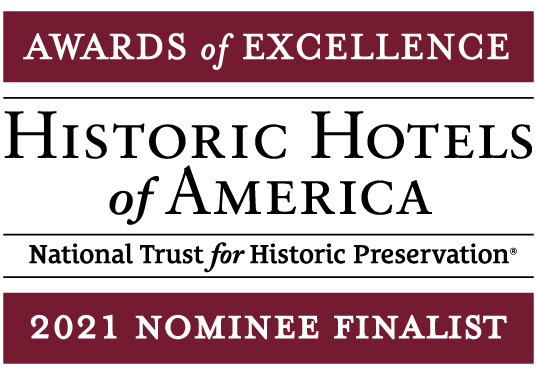 2021 Historic Hotels of America Awards of Excellence Nominee Finalist Logo