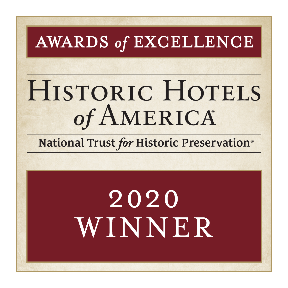 2020 Historic Hotels of America Awards of Excellence