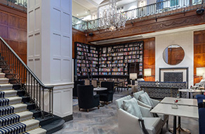 The Library at the Heathman Hotel in Portland, Oregon.