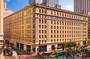 Exterior View of the Palace Hotel in San Francisco, California