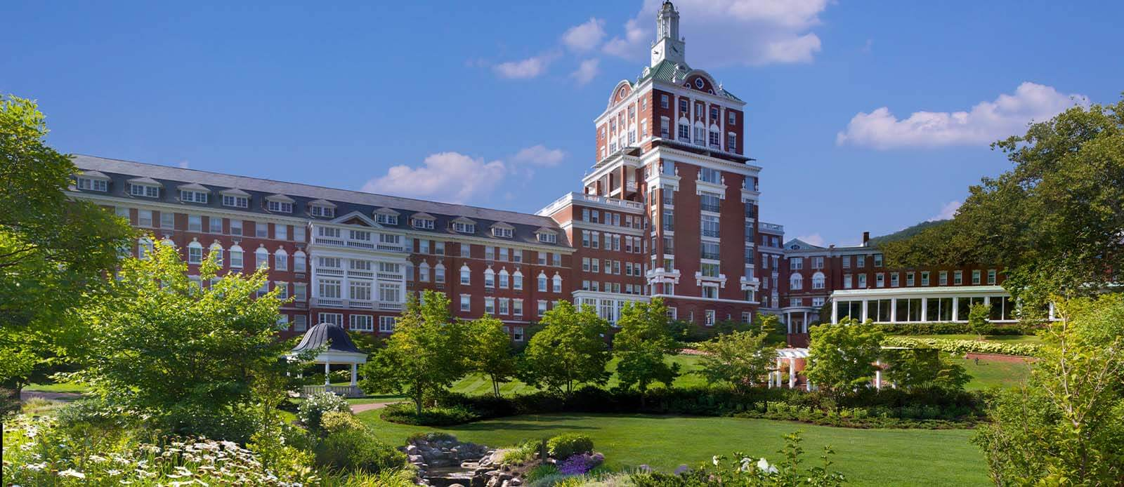 Image of exterior of The Omni Homestead Hotel
