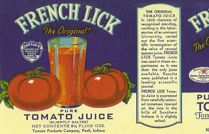 The Original Tomato Juice from French Lick Springs Hotel