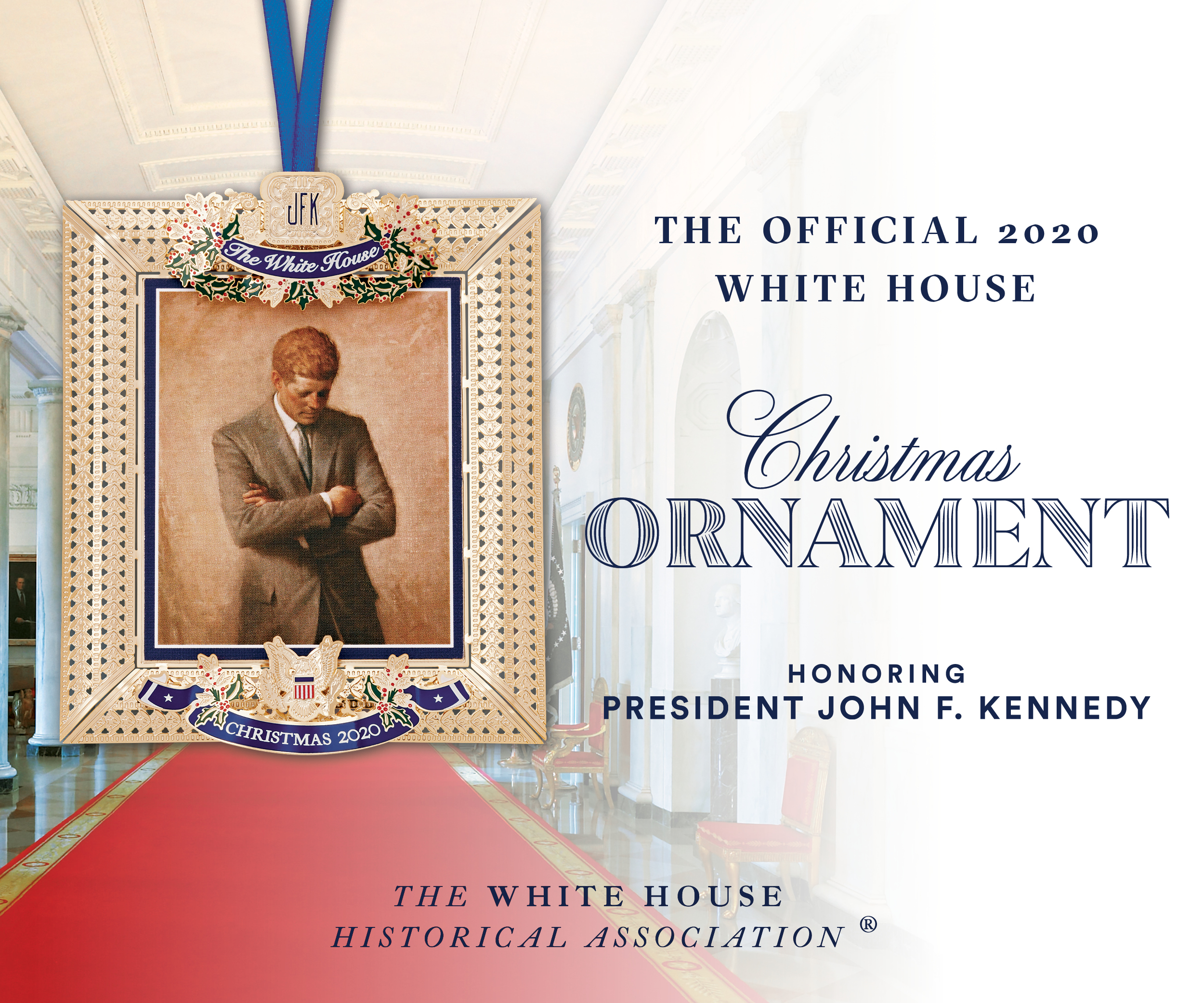Image of White House Christmas Ornament 2020 Banner Advertisement