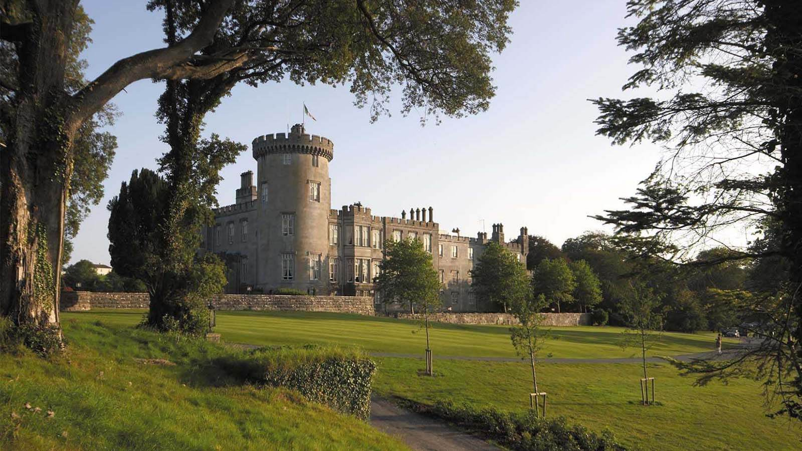 Daytime exterior of Dromoland Castle in Clare, Ireland.