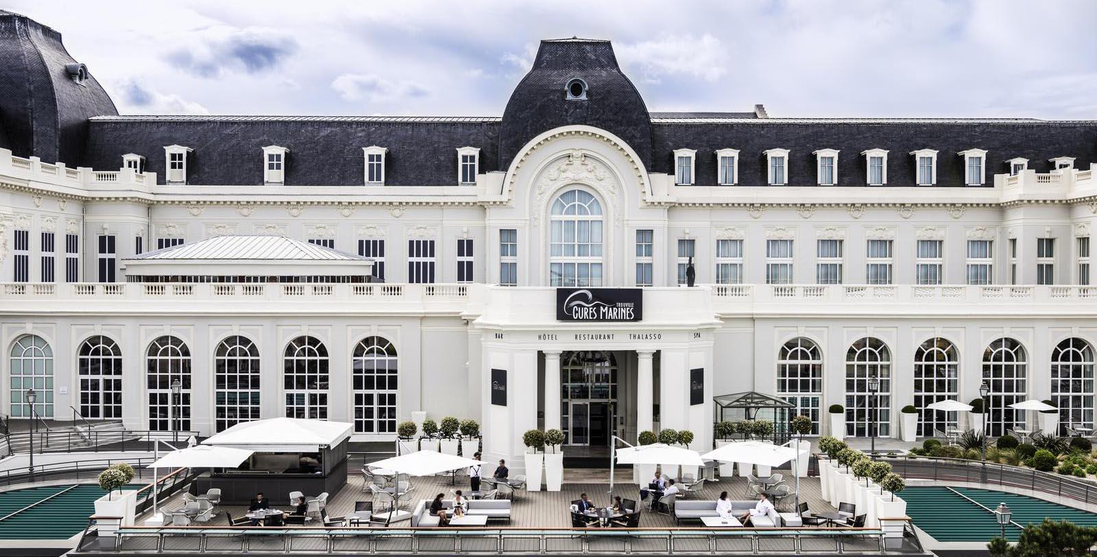 Daytime exterior at Cures Marines Trouville Hôtel Thalasso & Spa-MGallery by Sofitel at Trouville-sur-Mer, France.