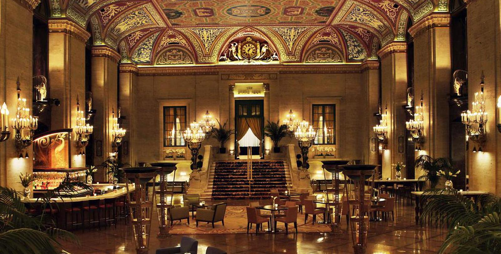 Interior lobby of the Palmer House®, A Hilton Hotel in Chicago, Illinois.