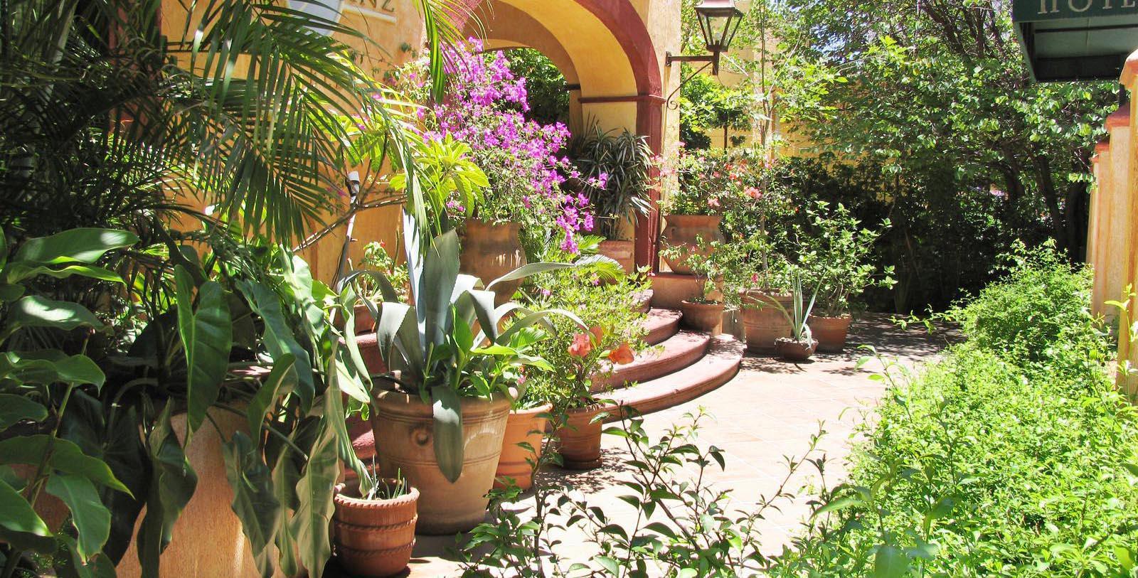 Daytime exterior of Villa Ganz Boutique Hotel in Guadalajara, Mexico.