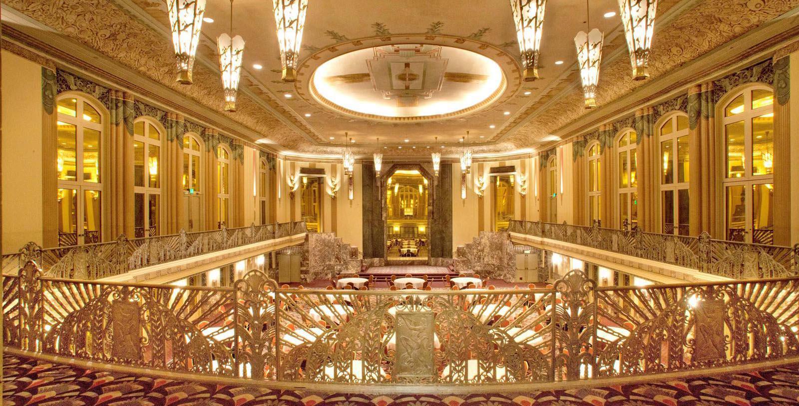 Image of Hall of Mirrors at the Hilton Cincinnati Netherland Plaza in Ohio.