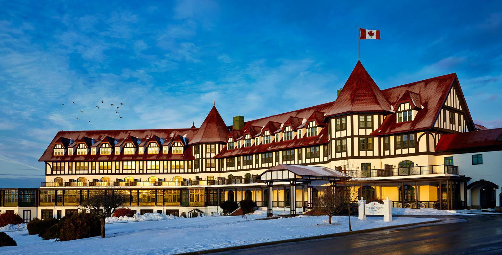 Image of exterior of the Algonquin Resort in Saint Andrews, Canada.