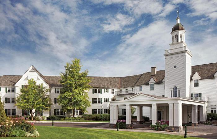 Daytime exterior of The Sagamore Resort in Bolton Landing, New York.