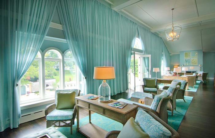 Image of spa lounge at The Omni Homestead Resort in Hot Springs, Virginia.