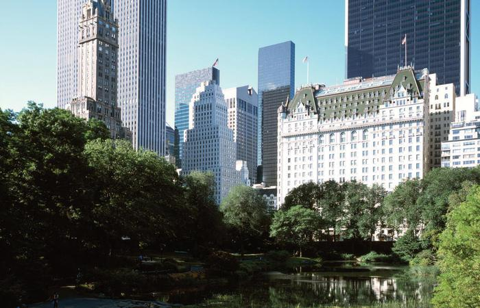 Daytime exterior of The Plaza in New York City.