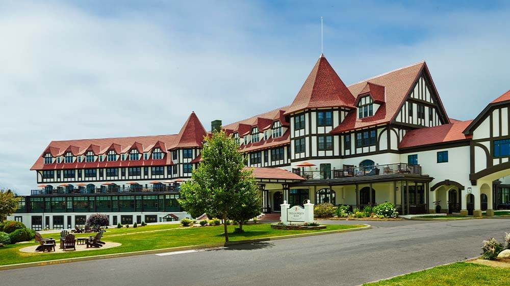 Daytime exterior of the Algonquin Resort in Saint Andrews, Canada.