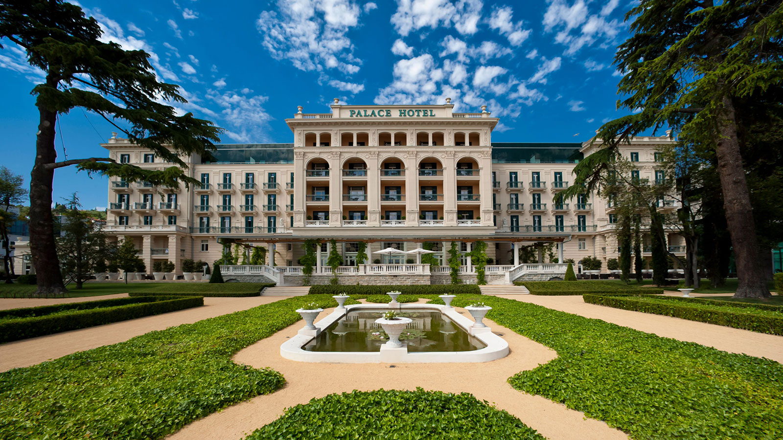 Discover the grand Habsburg-era architecture of the Kempinski Palace Portorož.