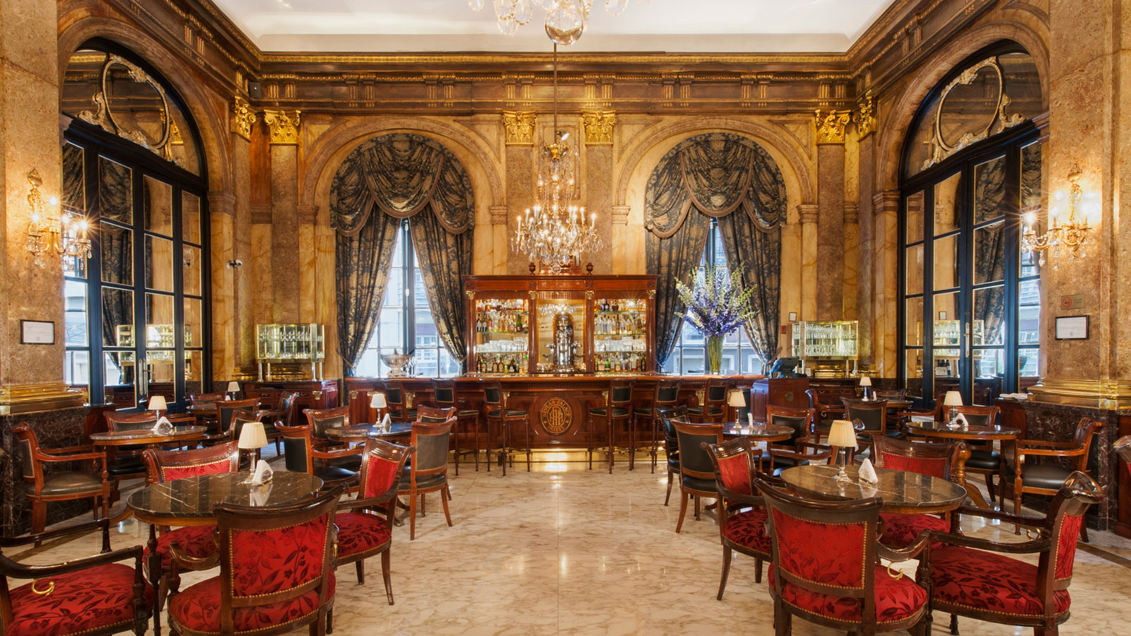 Interior restaurant at Alvear Palace Hotel in Buenos Aires, Argentina.