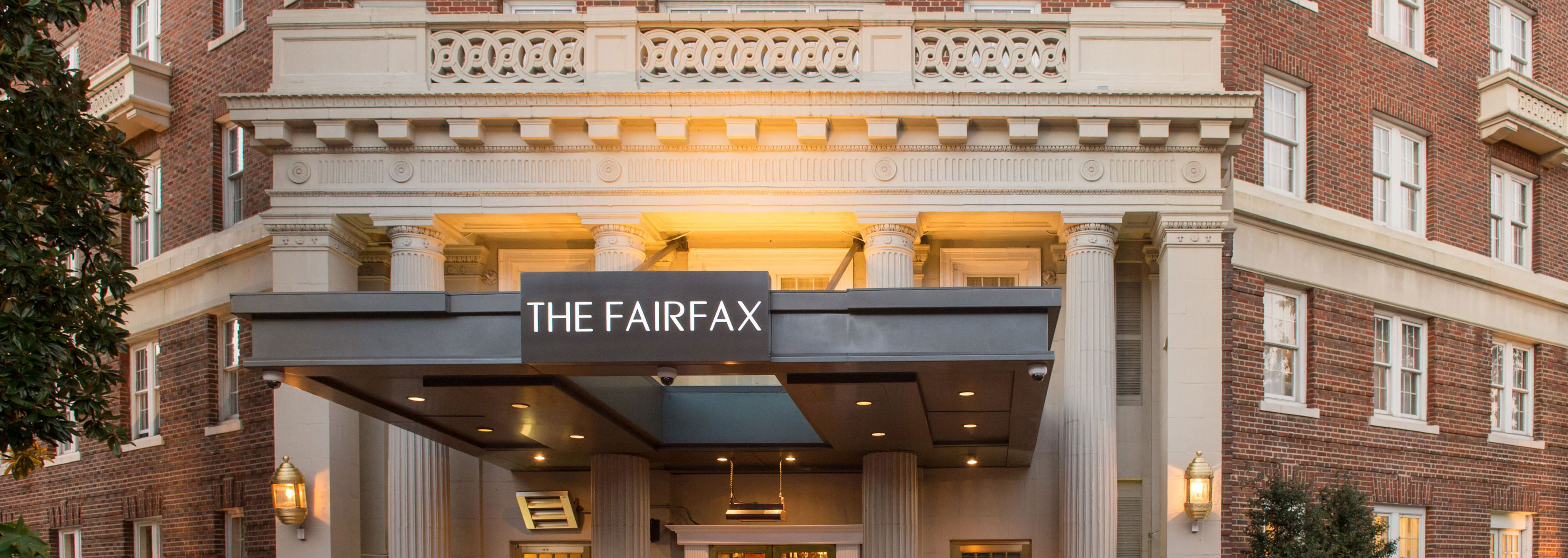 Daytime exterior and entrance to The Fairfax at Embassy Row in Washington, DC.