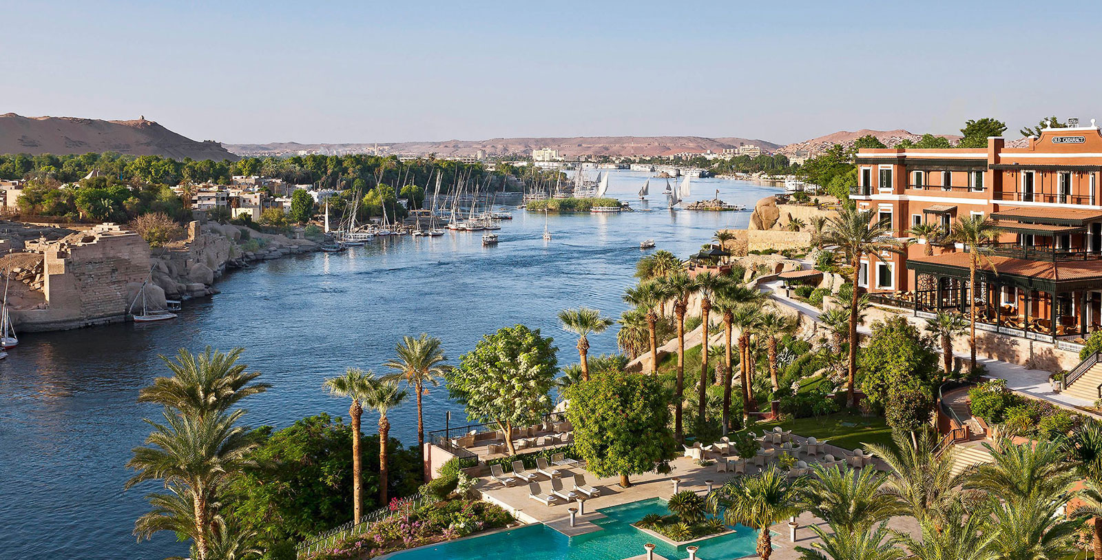 Image of Exterior Aerial View Sofitel Legend Old Cataract Aswan Egypt
